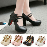 New Fashion Women Ladies Ankle Strap Dress Pumps Mary Jane Shoes Girl High Heels