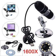 1600X Zoom 8 LED USB Microscope Digital Magnifier Endoscope Camera Video w/Stand