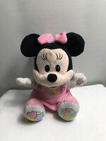 Disney Baby Minnie Mouse ABC 123 Interactive Plush Soft Toy - Talks & Sings oo