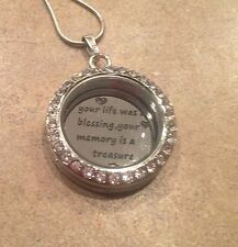 Back Plate Fits 30Mm Origami Owl Life Blessing  Memory Treasure Love Mothers