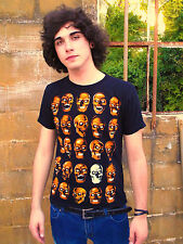 Rock Eagle Tee featuring SKULLS Black 100% Cotton Size M T-Shirt
