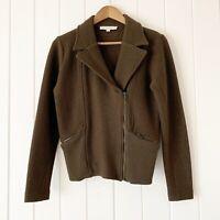Loft Jacket Small Merino Wool Zip Front
