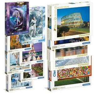 Clementoni 1000 Piece Jigsaw Puzzle Disney Marvel Animals Landscapes Cities New