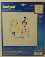 New I Love Music Musical Notes Band OrchestrCounted Cross Stitch Kit Made in USA