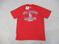 NEW Majestic St Louis Cardinals Shirt Adult Extra Large Red MLB Baseball Mens