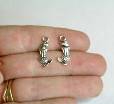 Bulk 100 Mermaid Charms Double Sided Tibetan Silver 20 x 9 mm -351