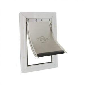Staywell® Aluminium Pet Door - Large White