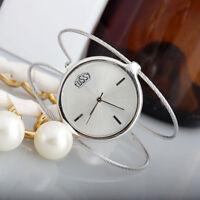 Fashion Silver Stylish Design Bangle Bracelet Quartz Wrist Watch Girl Women Gift