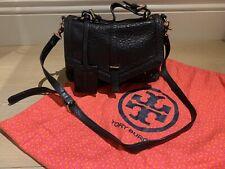 Tory Burch 797 Messenger Leather Bag - Black