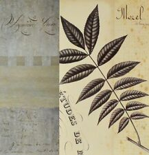 Chicago Botanic Garden Hickory Leaf Collage Poster Bild Kunstdruck 40x40cm