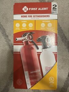 2 Pack NEW First Alert Rechargeable Home & Kitchen Fire Extinguisher