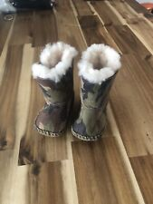 Baby Camo Ugg Boots Size 0.5