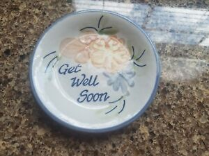 "Louisville Stoneware - ""Get Well Soon"" - 4.75"" mini plate / saucer"