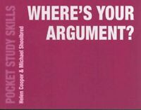 Where's Your Argument? by Michael Shoolbred 9781137534736 | Brand New