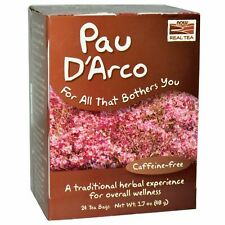 Now Foods PAU D'ARCO Tea Caffeine-Free Natural Antibiotic, 24 Bags Herbal Health