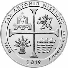 2019 - ATB 5oz San Antonio Missions National Historical Park Bullion Coin