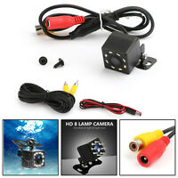 Car Rear View Backup Camera Reverse Park License Plate System Waterproof 8LED TZ