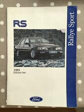Ford Rs Rallye Sport 1991 Edition Two Brochure