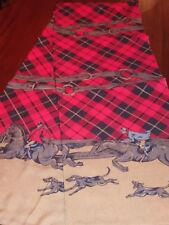 JG Hook Neck Scarf Horses Red Coats Dogs THRILL OF THE HUNT 9x57 Vintage ON SALE