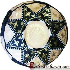 Low priced Algerian leather ottoman/pouffe - Moroccan Borders