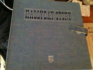coffret en jean 10  vinyles hallyday story