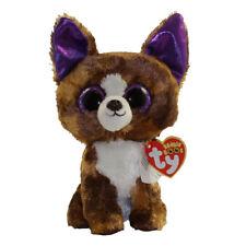 "Ty 6"" DEXTER Chihuahua Beanie Boos Plush Stuffed Animal MWMT's Heart Tags 2017"