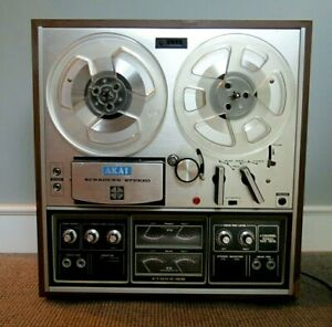 VTG AKAI 1730D-SS 4 Channel REEL to REEL TAPE PLAYER Recorder >Partially Working