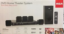 RCA DVD Home Theater System w/ HDMI 1080p Output 200 Watts 5.1 Surround RTD3276H
