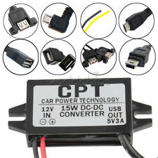 DC-DC 12V to 5V Mini Micro Dual USB Converter Step Down Power Module Adapter