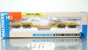Walthers Gold Line 81' 4-Truck Depressed Center Flat Car Union Pacific HO scale