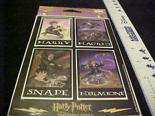 Harry Potter Sticker 1 Pack 2 Pages Harry Hagrid Snape Hermione Rare OOP