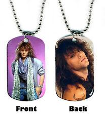DOG TAG NECKLACE - Jon Bon Jovi 1 1980s Rock Singer Songwriter Guitar icon hair