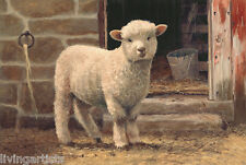 Sheep MARY Lil LAMB Autumn Mini Giclee Art Print **SALE