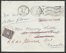 1967 #J18 5c Postage Due Cover, From USA Without Postage, Redirect to Glencoe ON