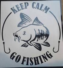 Keep Calm Go Fishing-VINILE Auto Adesivo Decalcomanie Grafiche nella scelta di colori 54