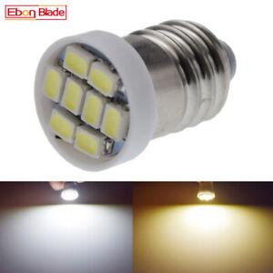 Warm/White E10 1447 1206 8SMD MES Miniature Edison Screw Indicator Bulb DC 12V