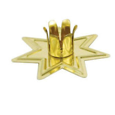 """Gold Fairy Star Chime Candle Metal Holder for 4"""" Mini Taper Spell Candles New"""