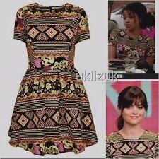 Topshop Cosplay Aztec Floral Jacquard Dress - Size 10