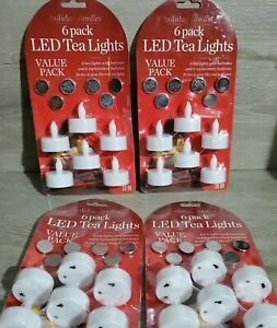 24 Flameless Tealight Candles LED Tea Light▪︎Extra Batteries▪︎NEW▪︎RETAILS $40