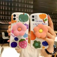 New flower phone case Soft Cover Holder For iPhone XR 11 Pro XS MAX X 7 8 Plus