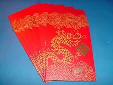 """~ Rare 6 Panda Express """"Chinese Red Envelopes Dragon �"""" #1 ~"""