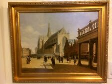 Old Master 19th Century Original Antique Oil Painting On Board,Signed and Framed