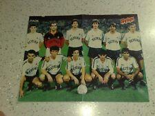 Rare Vintage 80's POSTER:Greek Football Championship PAOK VS Panionios