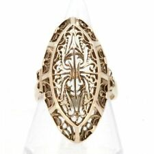 Statement Rose Gold Precious Metal Rings without Stones