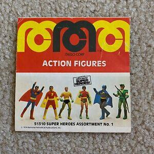1970's Vintage MEGO World's Greatest Super-Heroes toy insert mini catalog