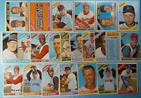 Vintage 1966 Old Topps Baseball Cards 23-card Lot *Semi High* *Vg-Ex/Vg-Ex+* 157