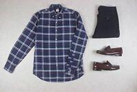 J Crew - Oxford Shirt - Blue/White Check - Small