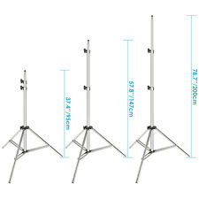 Neewer soporte de luz acero inoxidable 200cm para trabajo pesado (plata)