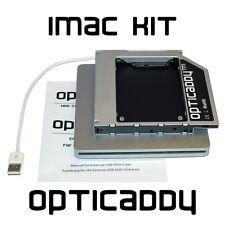iMac 2009-2011 Optibay 2nd HDD Adapter Module Caddy +DVD USB Gehäuse Kit [12s]
