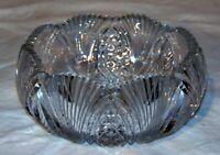 American Brilliant Cut Glass Crystal Round Bowl